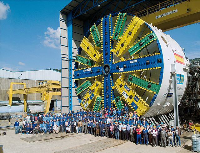 Mitsubishi supplied one of two 15m EPBs for Madrid M30 highway tunnel