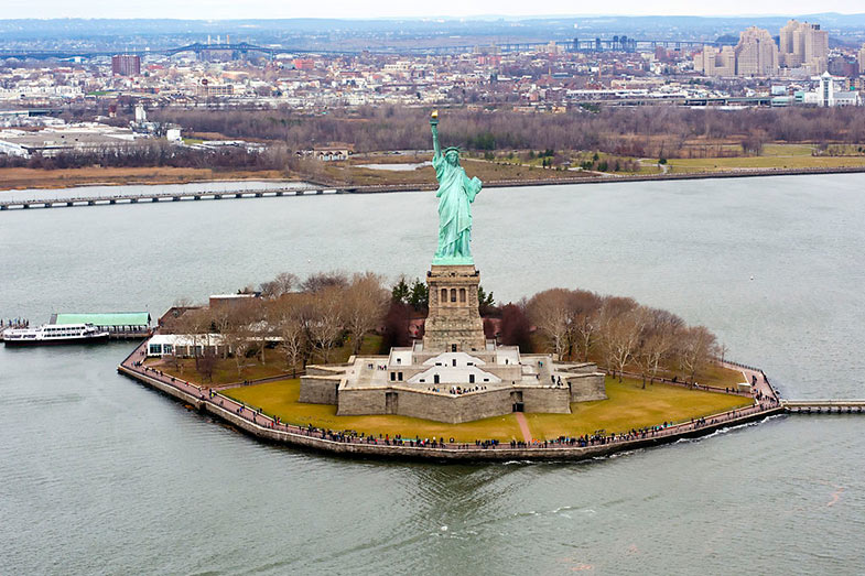 Liberty Island, home of the Statue of Liberty