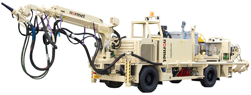 The Spraymec 5070 VC medium capacity spray robot from Normet