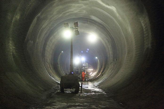 Tottenham Court Road Station platform tunnels