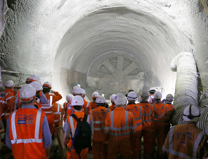 TBM Victoria breaks through to complete Crossrail tunnelling