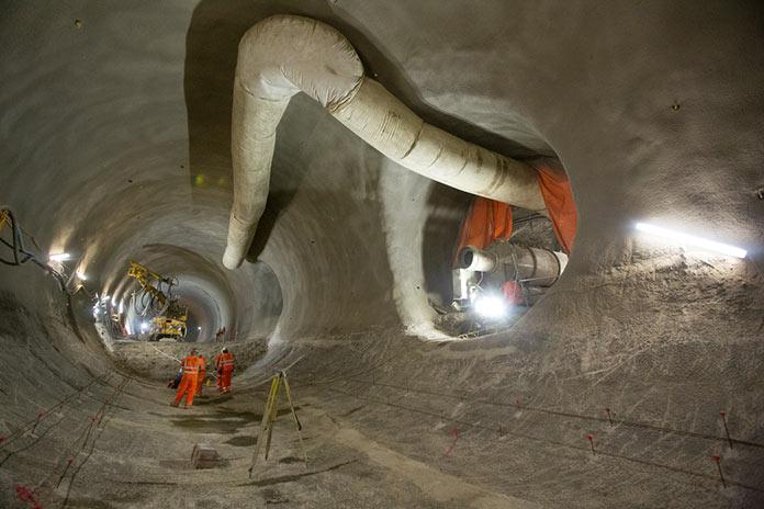 Farringdon Station platform tunnels