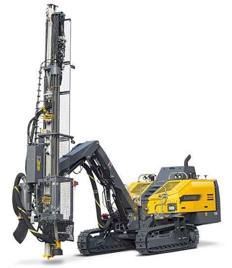 The Atlas Copco FlexiROC T25 R drill rig