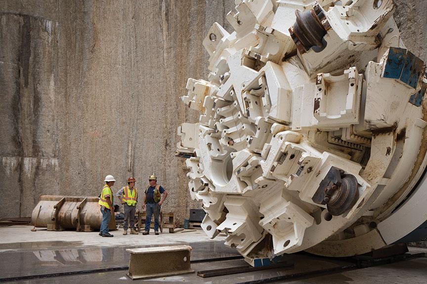 4m Main Beam Robbins TBM in the launch shaft