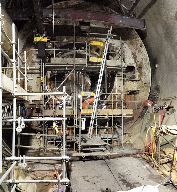 Dismantling the TBM at Farringdon Station