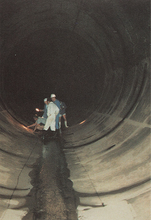 Inspection of the 6m diameter high pressure water tunnels of the Drakensberg pumped storage scheme