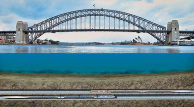 New Sydney Harbour tunnel