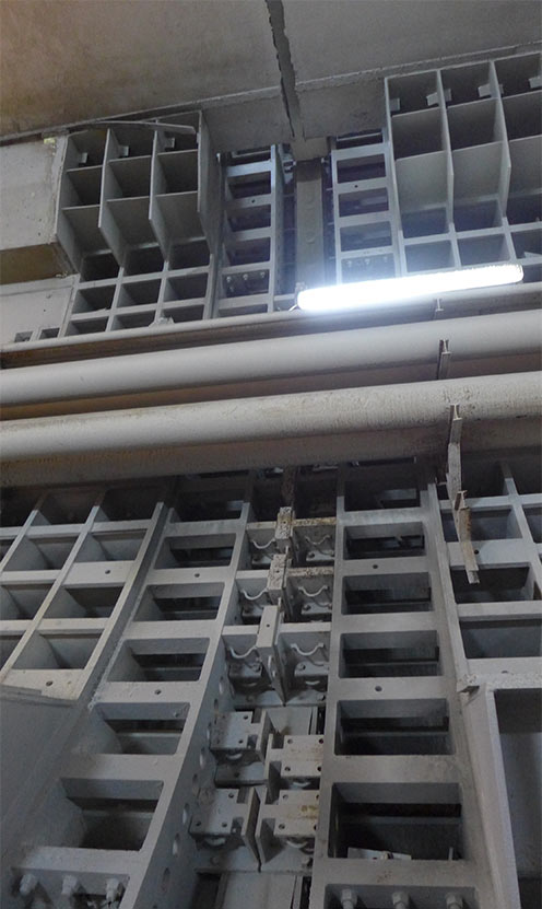 Seismic joint yet to be completed with its shear pins