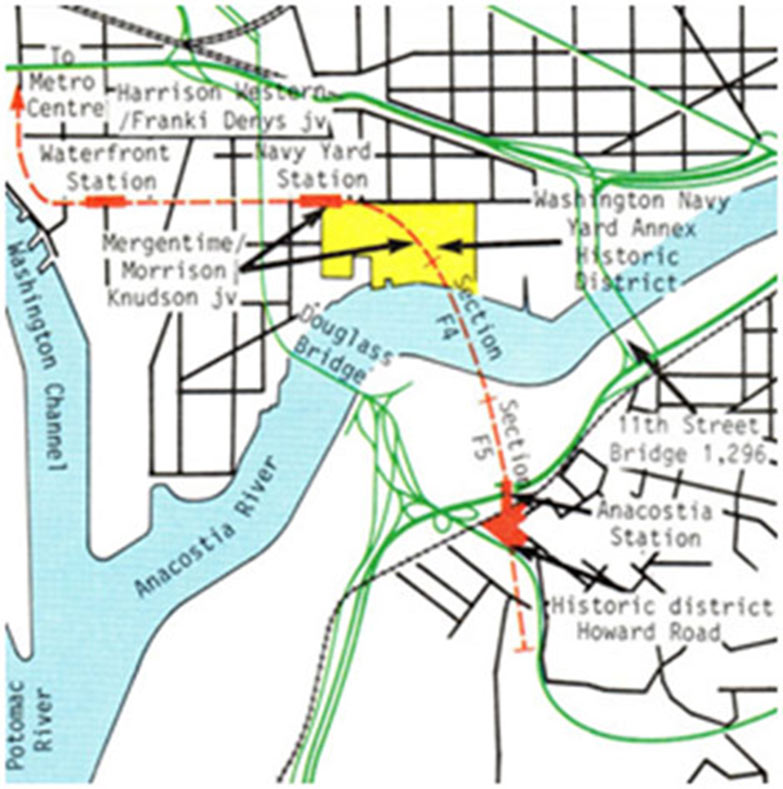 Fig 2. Four river crossings on the Metro system to date