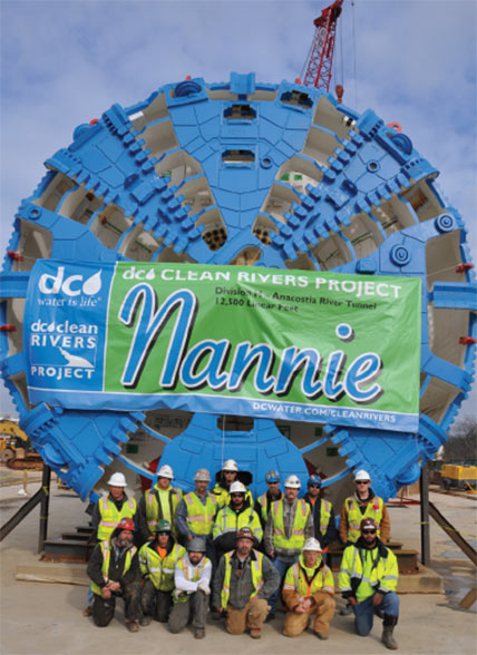 TBM Nannie for Anacostia drive