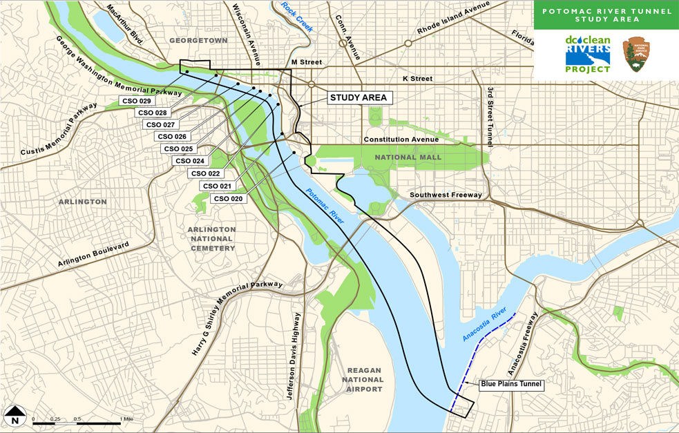 Fig 2. Potomac River study area