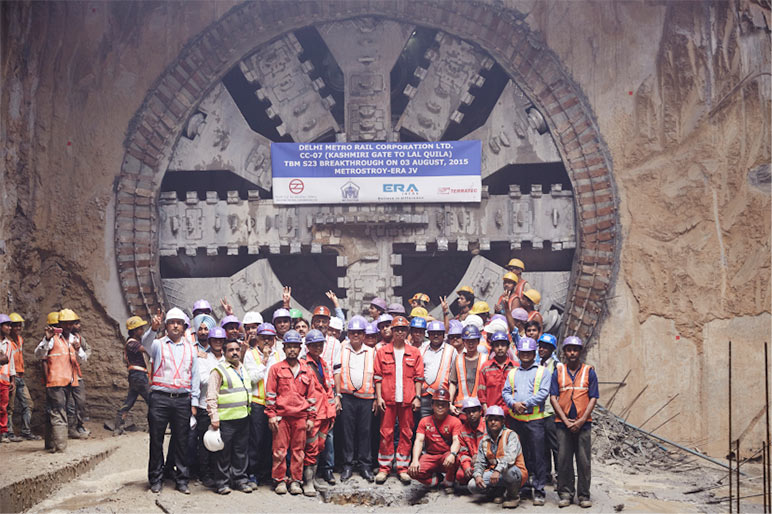S23 breakthrough ceremony at Lal Quila