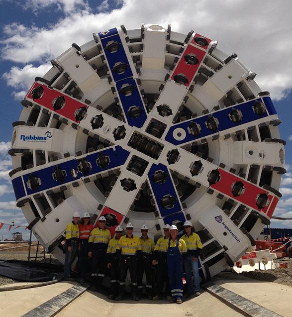 Comis at the Grosvenor Decline Tunnel in Australia