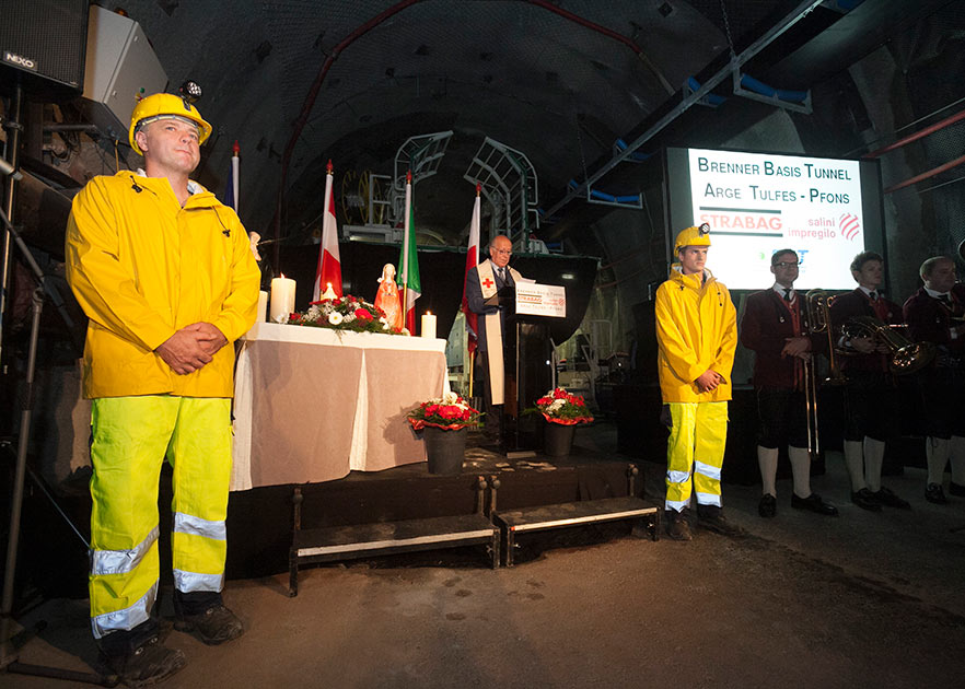 Official TBM launch ceremony on Tulfes-Pfons Lot
