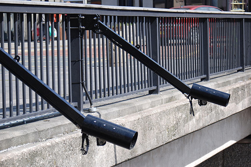 Spike number plate recognition cameras from PIPS Technology as used at London's Blackwall Tunnel