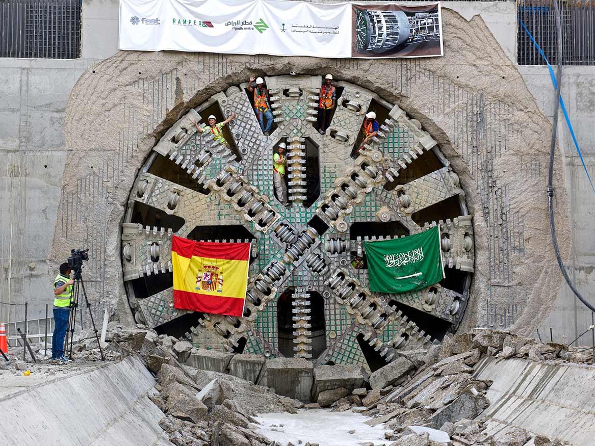 9.77m diameter Herrenknecht TBM