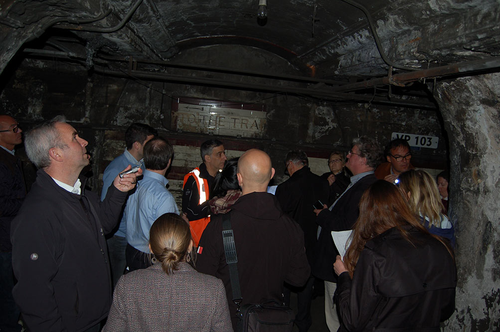 Tour of the disused Down Street Underground Station