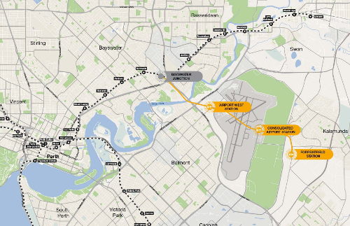 Alignment of the 8.5km Perth/Forrestfield Airport Link' style='width:448px;