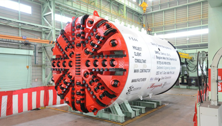 Hitachi Zosen slurry TBM for UG2