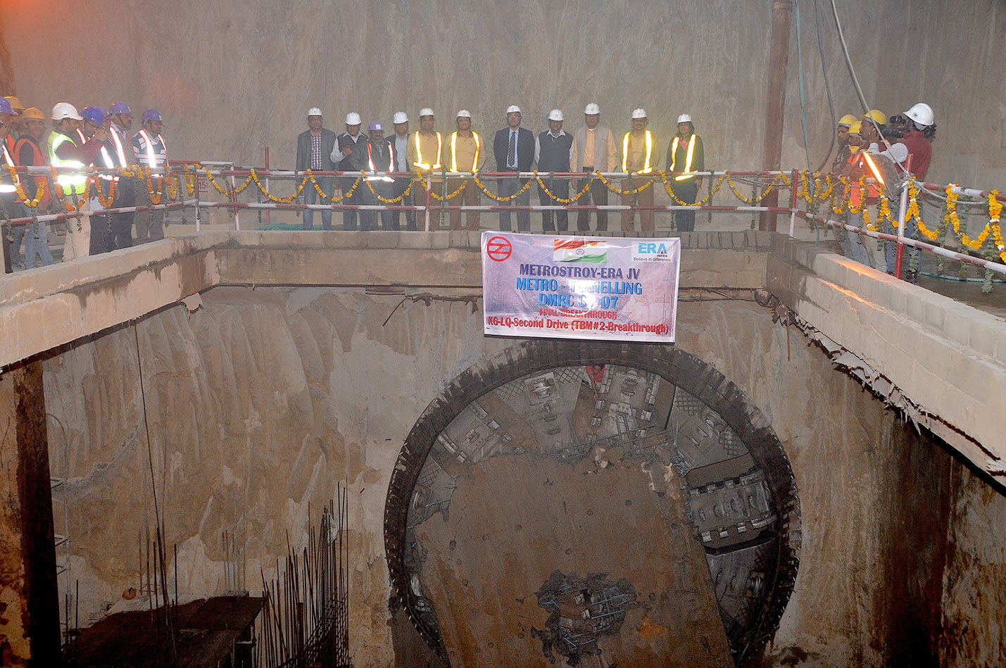 Final CC-07 breakthrough into Kashmere Gate Station