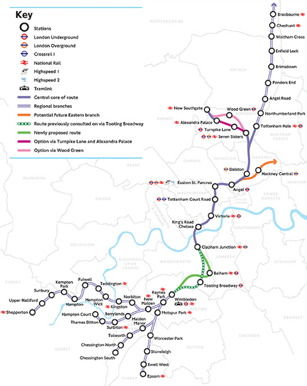 Fig 1. Budget supports 38km of Crossrail 2 tunnels