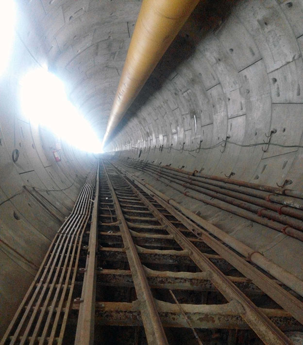 Segmentally lined tunnel of Contract UAA-01 in Chennai