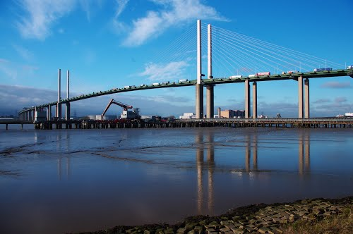 QE2 Bridge at Dartford, east London