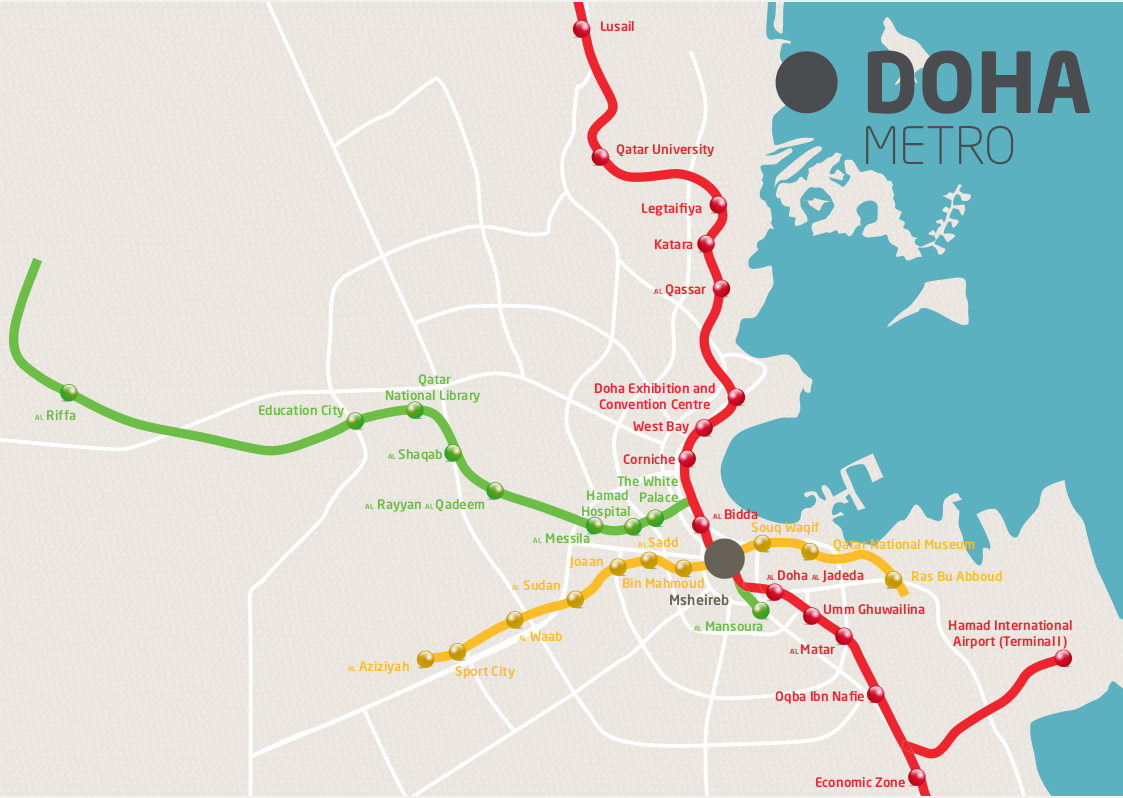 Doha Metro alignment
