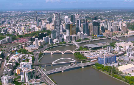 Merivale Bridge is Brisbane's only rail river crossing