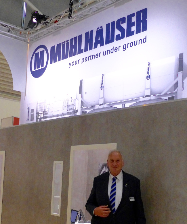 Previous Managing Director Heinz-Peter Mühlhäuser was part of the team on making its return as a show exhibitor