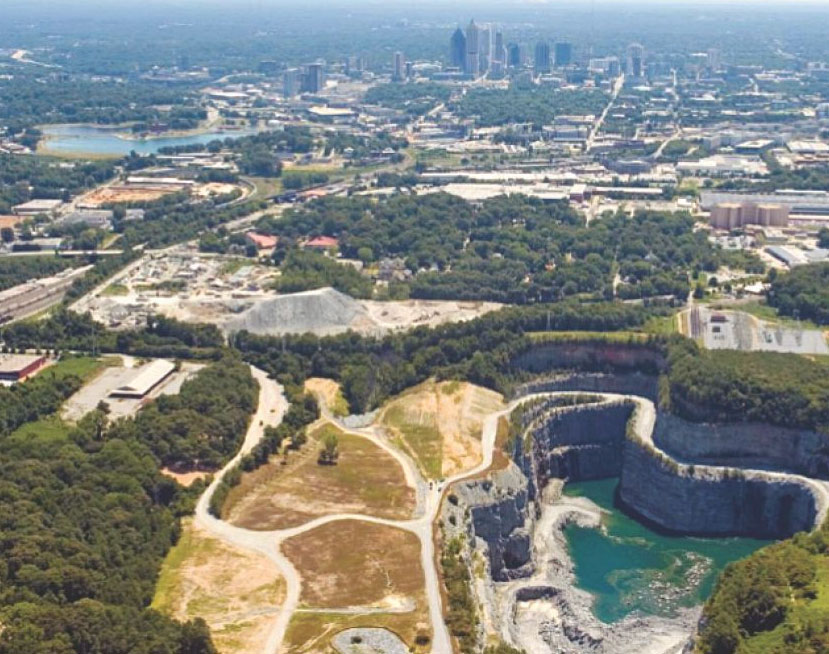 Bellwood Rock Quarry, part of the Atlanta Raw Water Delivery System Project
