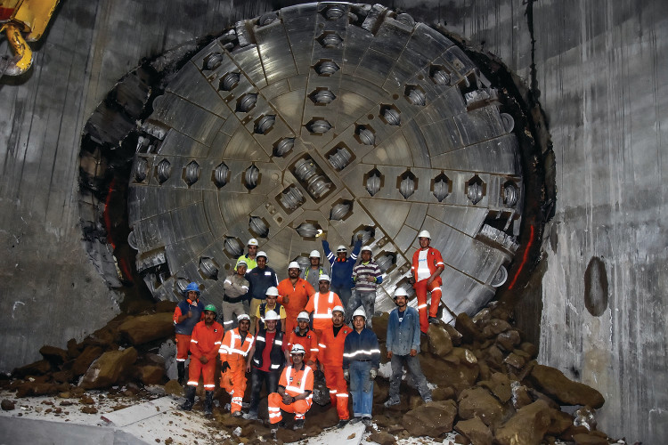 First breakthrough of the 8.7m diameter Robbins Crossover (XRE) TBM