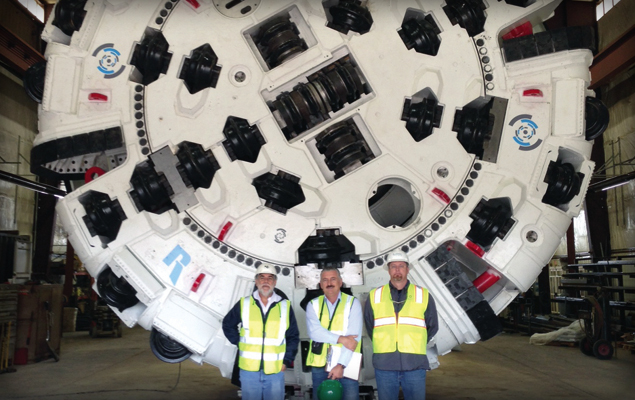 6.1m cutterhead of the refurbished Robbins TBM