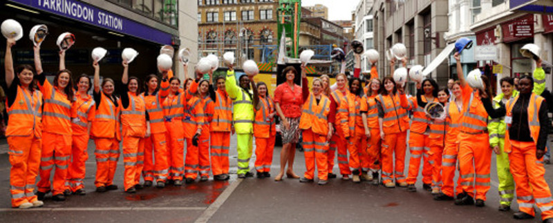 "A growing number of women are being attracted to careers in underground engineering"" style=""height: 146px;"