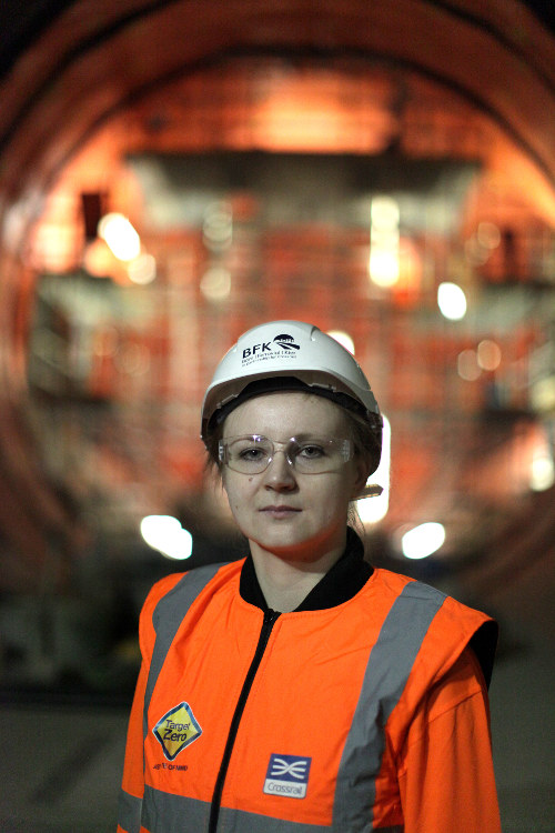 Justyna Wsol, Civil Engineer, Ferrovial, Farringdon Station