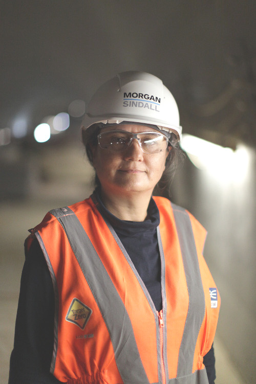 Maryam Karbasi, Assistant Surveyor, Morgan Sindall, Pudding Mill Lane site