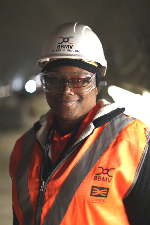 Michelle Umagho Ukueku, Health and Safety Advisor, Crossrail Ltd, Canary Wharf Station