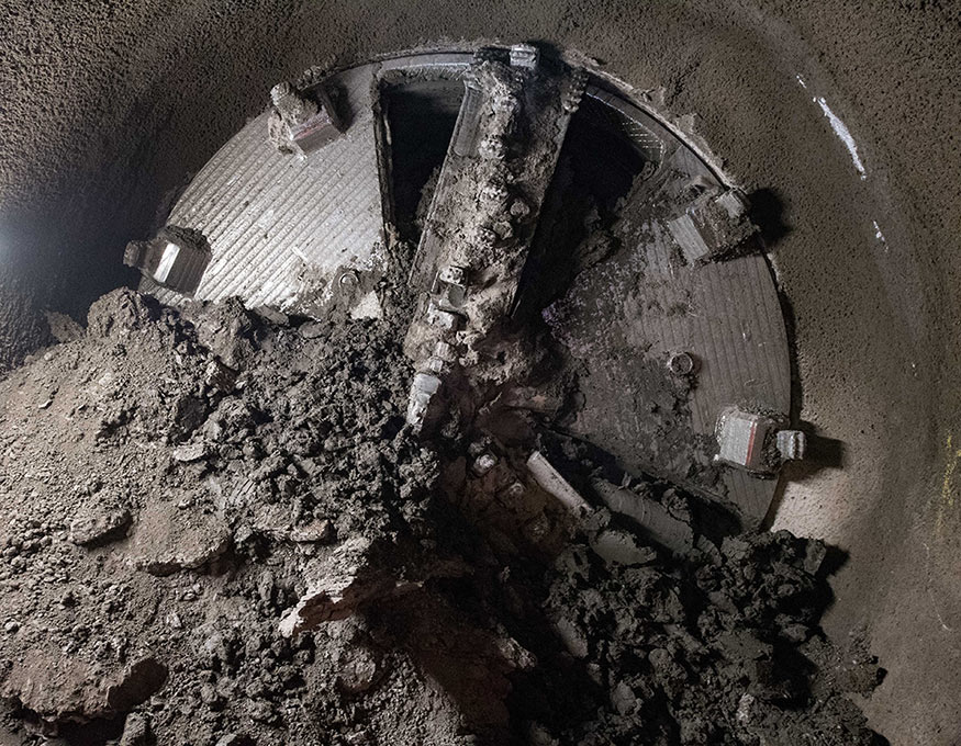 3.4m diameter Lovat TBM breaks through