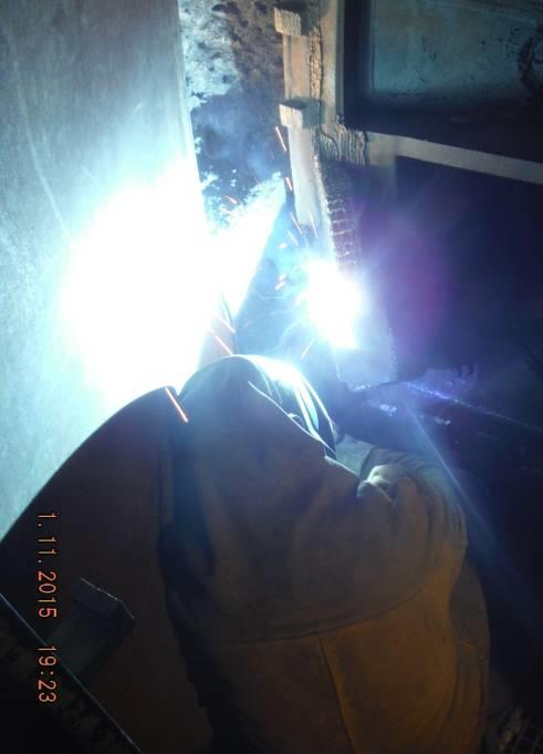 Welding the new wear plates