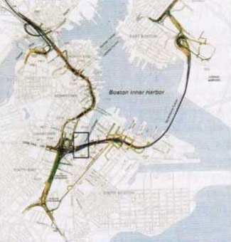 Fig 1.  Plan of the CA/T project in Boston