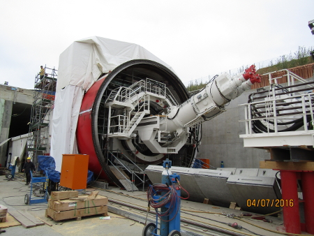 First mainline TBM assembly on Terzo Valico rail project