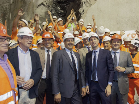 Breakthrough by COCIV in 2015 of the Campasso Tunnel