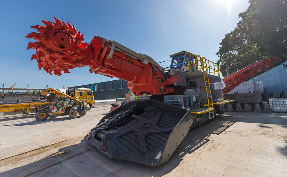 One of 18 roadheaders for the WestConnex M4 East project