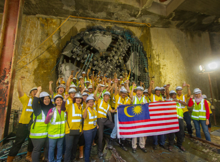 One of many TBM breakthroughs on the KLMRT-SBL project