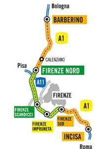 Fig 1. A1 highway near Firenze