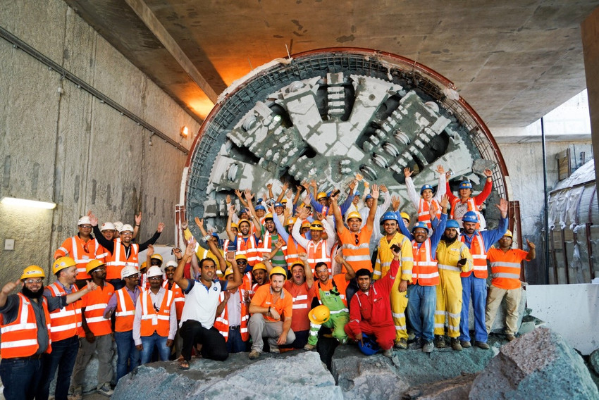 Final breakthrough after excavation of 111km of running tunnels in 24 months using 21 TBMs for the Doha Metro