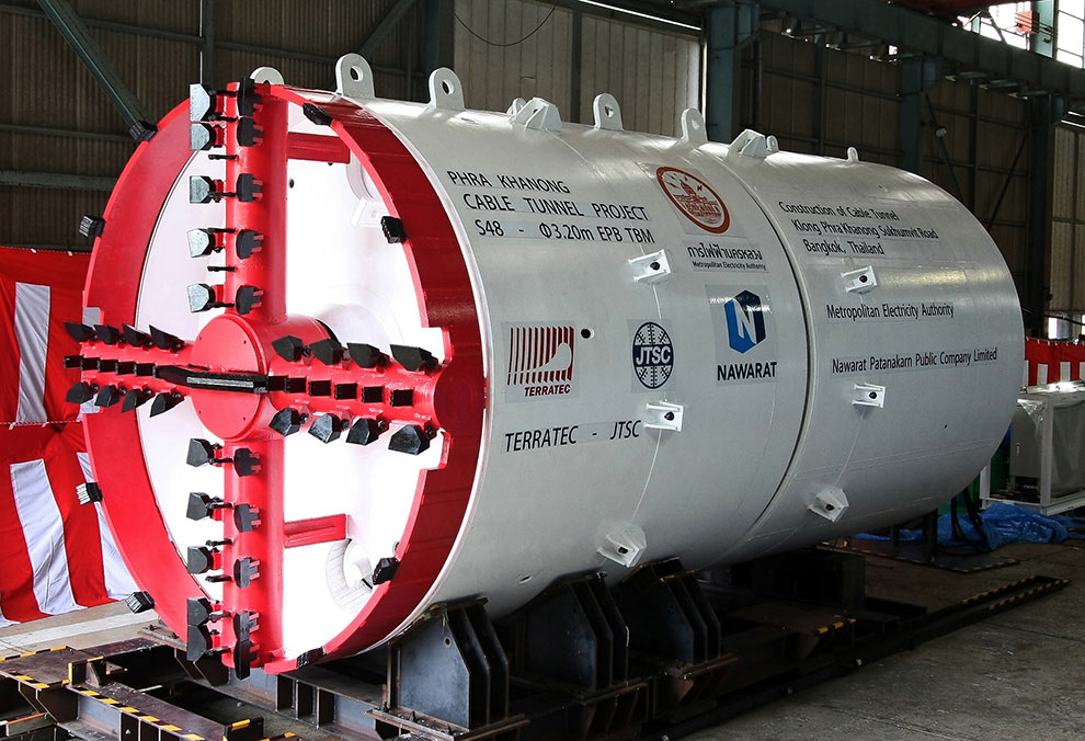 3.2m diameter EPBM for Bangkok cable tunnel