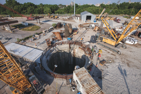 67m launch shaft for the White River Tunnel