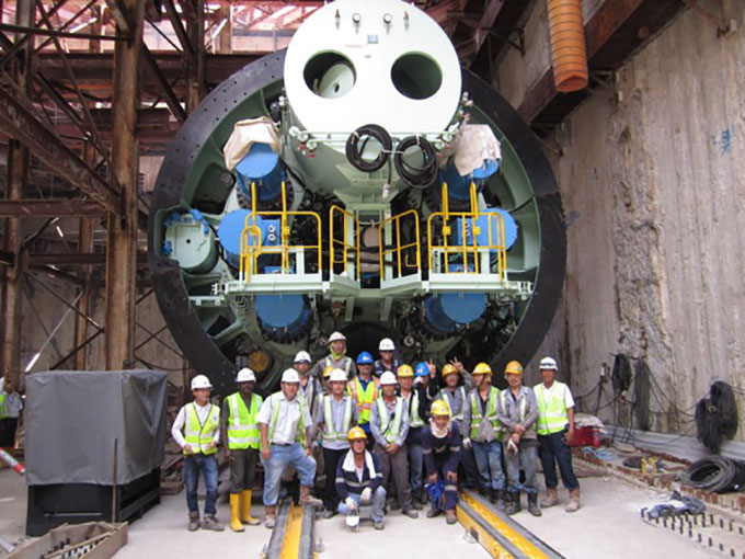 Successful TBM assembly at tough jobsite location