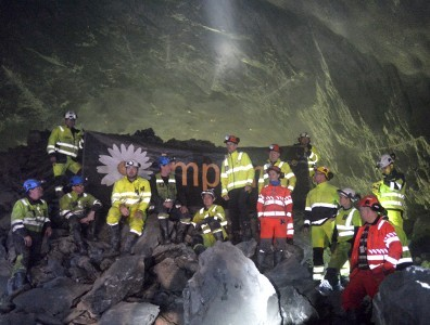Breakthrough on the 3.7km Eiganes Tunnel